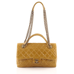 Chanel Castle Rock Flap Bag Glazed Quilted Calfskin Large