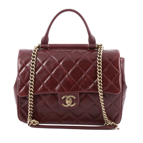 68d0ca4b2b3d Buy Chanel Aged Chain CC Bar Top Handle Bag Quilted Aged 1363901 – Rebag