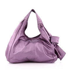 Valentino Nuage Bow Hobo Leather Large