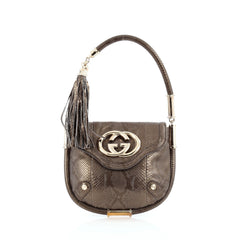 Gucci Britt Shoulder Bag Python
