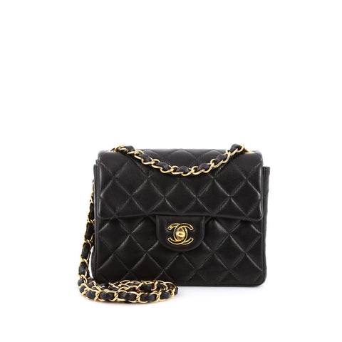 21e1f0b7c22304 Buy Chanel Vintage Square Classic Single Flap Bag Quilted 1370806 – Rebag