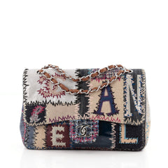 Chanel Classic Single Flap Bag Multicolor Patchwork Jumbo
