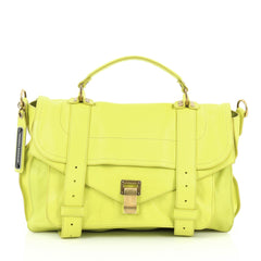 Proenza Schouler PS1 Satchel Leather Medium Yellow