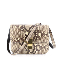 Celine Box Bag Python Medium Brown