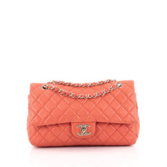 Chanel Classic Double Flap Bag Quilted Lambskin Medium
