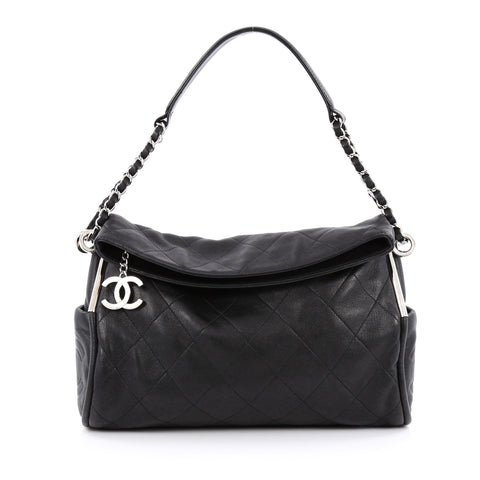 61e1c78f15e31c Buy Chanel Ultimate Soft Hobo Quilted Leather Medium Black 1402702 – Rebag