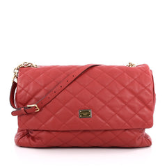 Dolce & Gabbana Miss Kate Shoulder Bag Quilted Vitello Soft Large Red