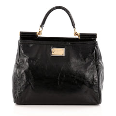 Dolce & Gabbana Miss Sicily Convertible Tote Patent Large