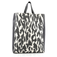 Celine Vertical Bi-Cabas Tote Printed Canvas and Leather Large Black & White