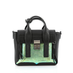 3.1 Phillip Lim Pashli Satchel Iridescent Leather Mini