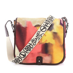 Chanel Limited Edition Flower Power Messenger Multicolor Printed Nubuck Multicolor