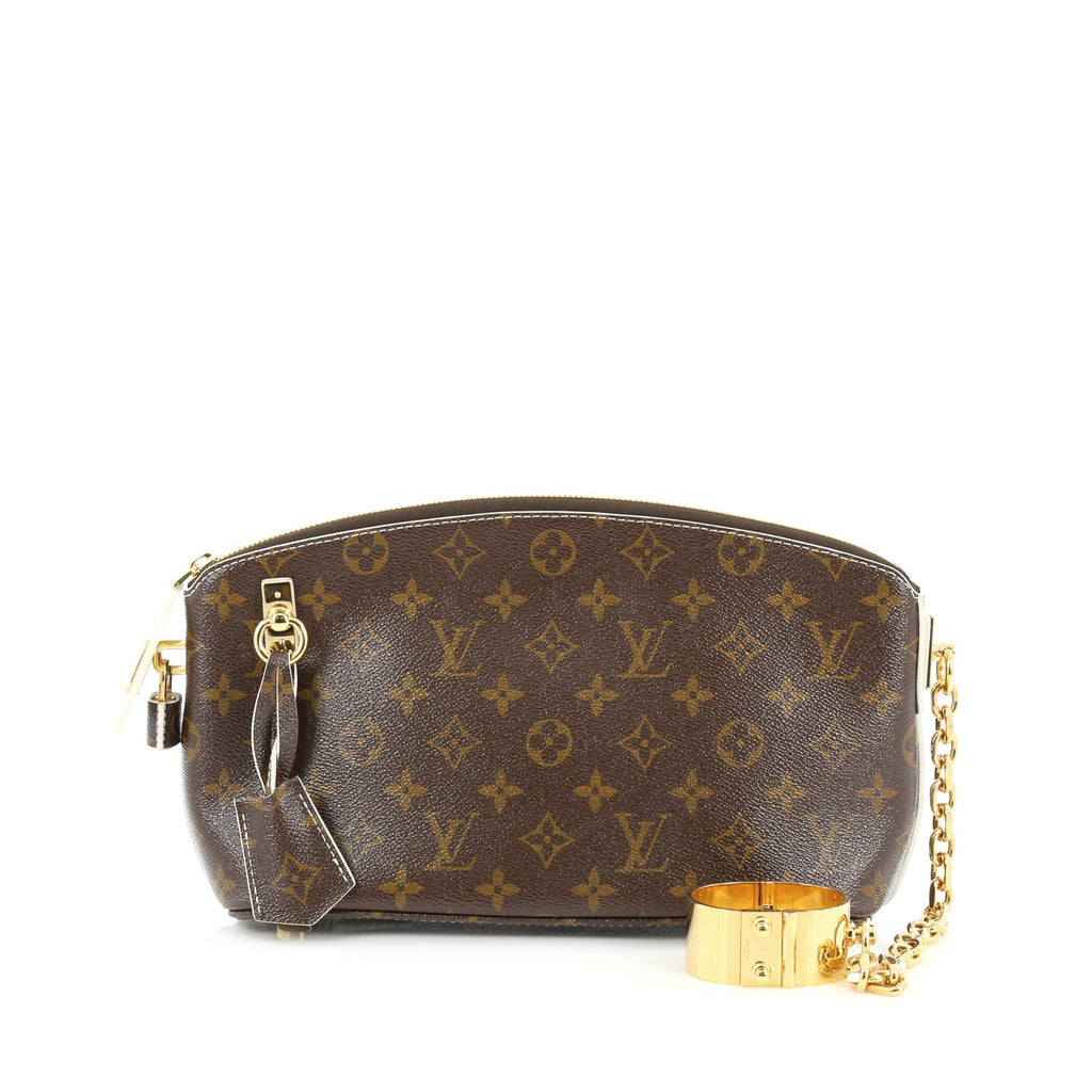 Buy Louis Vuitton Lockit Cuff Clutch Monogram Fetish Canvas 1410028 – Rebag