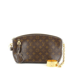 Louis Vuitton Lockit Cuff Clutch Monogram Fetish Canvas