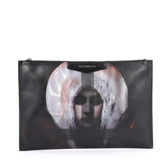 Givenchy Antigona Pouch Printed Leather Large Black