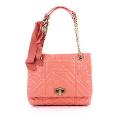 Lanvin Happy Shoulder Bag Quilted Leather Large