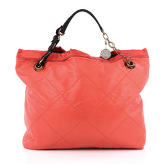 Lanvin Amalia Cabas Tote Leather Large Red