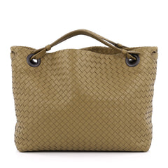 Bottega Veneta Bella Tote Intrecciato Nappa Large Green