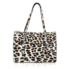 Alaia Flap Tote Bag Calf Hair Medium Print