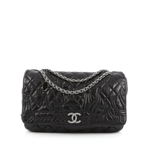 a4268966e413 Buy Chanel Paris-Moscow Square Flap Bag Embossed Quilted 1416101 – Rebag