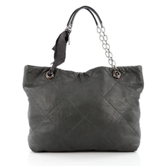 Lanvin Amalia Cabas Tote Leather Large Gray