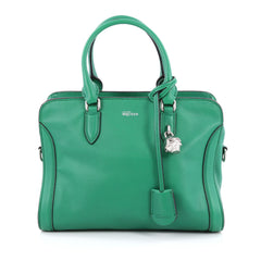 Alexander McQueen Padlock Zip Around Tote Leather Small Green