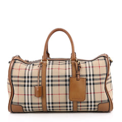 Burberry Convertible Weekend Duffle Bag Horseferry Check Canvas Medium brown