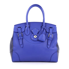 Ralph Lauren Collection Ricky Satchel Leather 33 blue