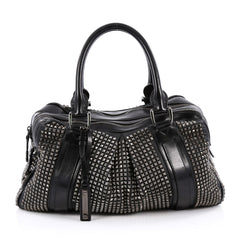 Knight Bag Studded Leather