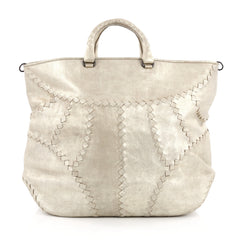 Bottega Veneta Mineral Convertible Tote Leather with Intrecciato Detail neutral