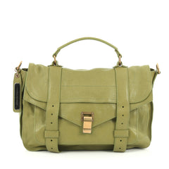 Proenza Schouler PS1 Satchel Leather Medium green
