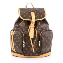 Louis Vuitton Bosphore Backpack Monogram Canvas brown