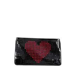 Christian Louboutin Loubiposh Clutch Spiked Patent black