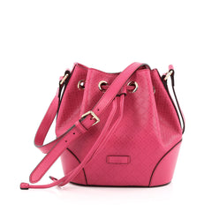 Gucci Bright Bucket Bag Diamante Leather Small pink