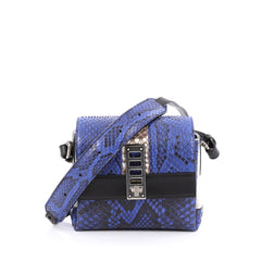 Proenza Schouler Elliot Crossbody Bag Python Mini blue