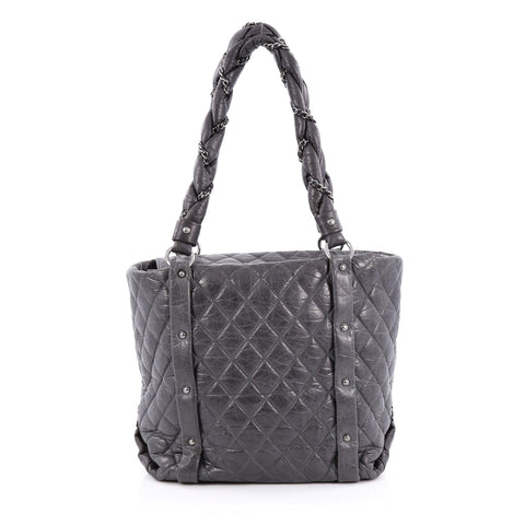 4fb36e5a967ce3 Buy Chanel Ligne Lady Braid Tote Quilted Leather Medium Gray 1444101 – Rebag