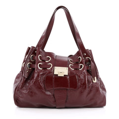 Jimmy Choo Ramona Hobo Patent red