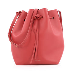 Mansur Gavriel Bucket Bag Leather Large Red
