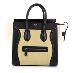 Celine Tricolor Luggage Handbag Leather Mini multicolor