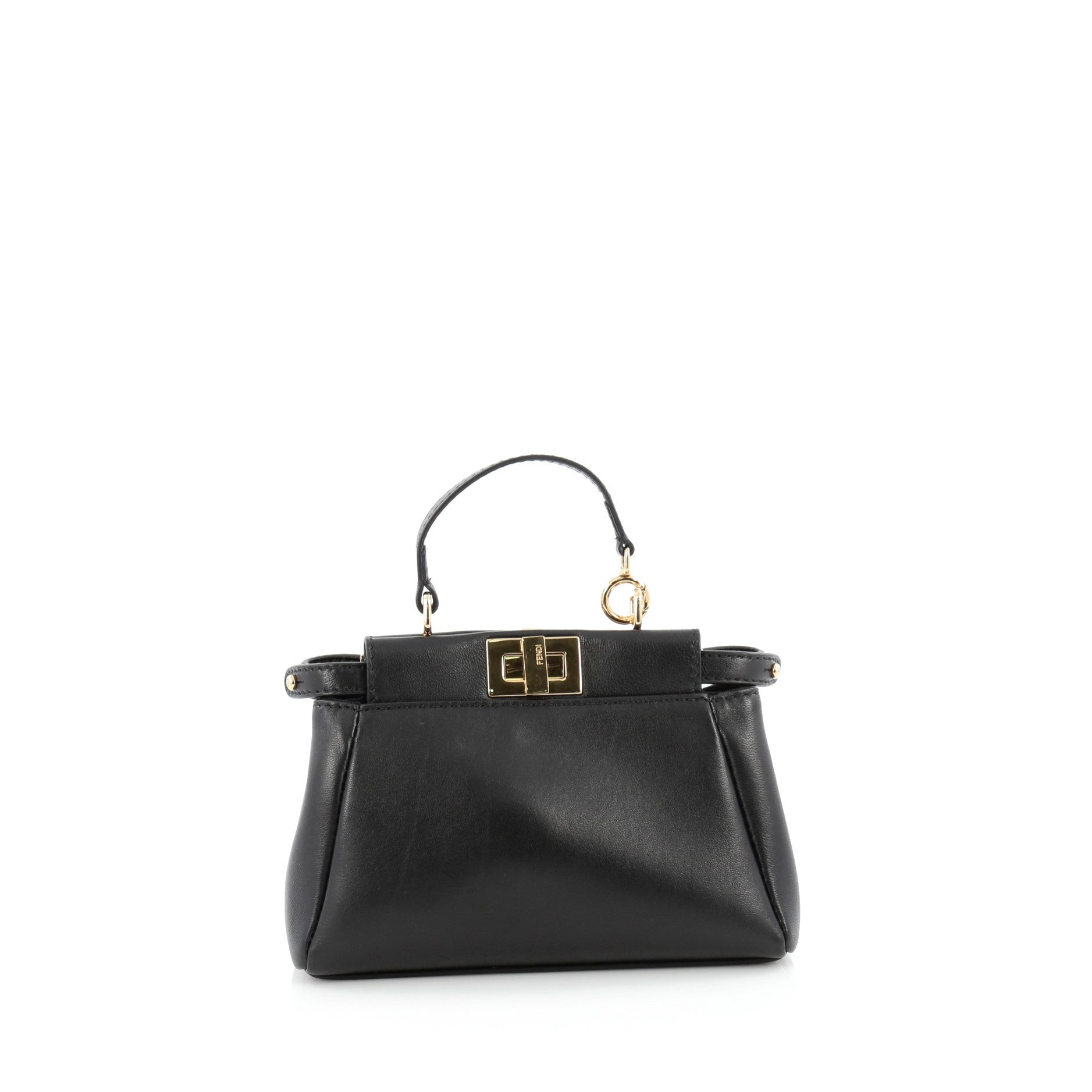 Fendi Peekaboo Handbag Leather Micro
