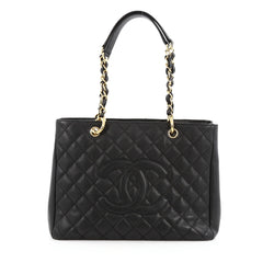 Chanel Grand Shopping Tote Quilted Caviar Black