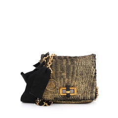 Lanvin Pop Crossbody Bag Calf Hair Mini gold