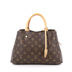 Louis Vuitton Montaigne Handbag Monogram Canvas BB Brown