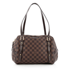 Louis Vuitton Rivington Satchel Damier GM Brown