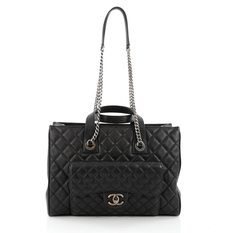 d159b131ff82 Buy Chanel CC Chain Front Pocket Shopping Tote Quilted 1465201 – Rebag