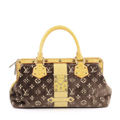 Louis Vuitton Trompe L'Oeil L'Ingenieux Handbag Limited Edition Monogram Velvet with Crocodile
