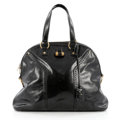 Saint Laurent Muse Shoulder Bag Patent Large Black
