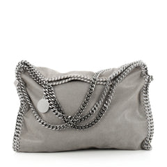Stella McCartney Falabella Fold Over Bag Faux Leather Gray