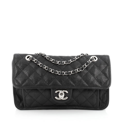 4014e175fc90 Buy Chanel French Riviera Flap Bag Quilted Caviar Medium 1480101 – Rebag