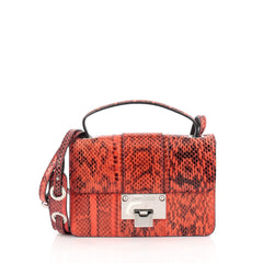 Jimmy Choo Rebel Crossbody Bag Python Small Orange