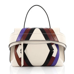 Tod's Convertible Wave Bag Leather with Python Detail Small